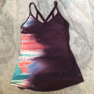 Women's Sunset Fade Workout Top; Brand New w/ Tags